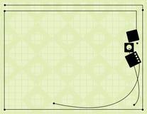 Black off-white line backgroun. Black frame design with an off-white diamond grid background Stock Photos