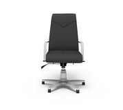Black office armchair. On a white background, 3d rendering Stock Images