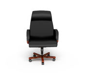 Black office armchair. On a white background, 3d rendering Stock Photo