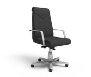 Black office armchair. On a white background, 3d rendering Stock Photos