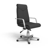 Black office armchair. On a white background, 3d rendering Royalty Free Stock Photography