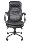 Black office armchair isolated on white background. Royalty Free Stock Images