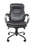 Black office armchair isolated Royalty Free Stock Photos