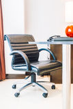 Black office armchair Royalty Free Stock Images