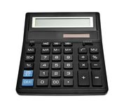 Black office calculator Royalty Free Stock Images