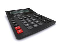 Black office calculator Stock Images