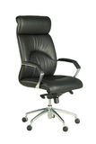 Black office chair. With arms Stock Image
