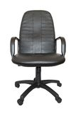 Black office chair isolated Stock Images