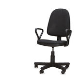 The black office chair. Isolated Stock Image