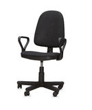 The black office chair. Isolated Royalty Free Stock Photography