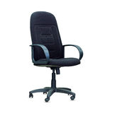 The black office chair. Isolated Royalty Free Stock Images