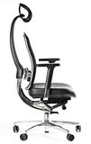 Black office chair isolated on white Stock Image