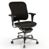 Black office chair isolated on white 3D Illustration Royalty Free Stock Photos