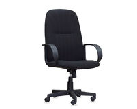 The black office chair.  Stock Photo
