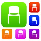 Black office chair set color collection Stock Images