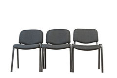 Black office chairs Royalty Free Stock Photo