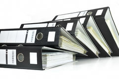 Black office files Royalty Free Stock Photography
