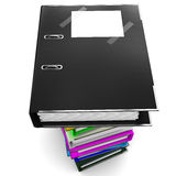 Black office folder for papers Royalty Free Stock Photography
