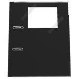 Black office folder for papers. A symbol of black accounting Royalty Free Stock Images