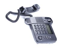 Black Office Phone. Stock Photography