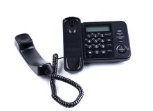 Black Office Phone isolated on white background Royalty Free Stock Photos