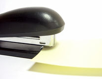 Black office stapler Royalty Free Stock Images
