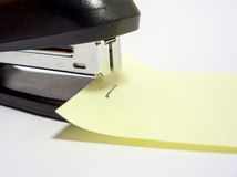 Black office stapler Royalty Free Stock Photos