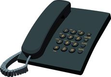 Black office stationery telephone Royalty Free Stock Image