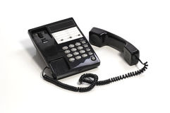 Black Office Telephone Stock Photos