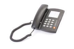 Black office telephone Royalty Free Stock Images