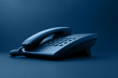 Black office telephone Royalty Free Stock Photo