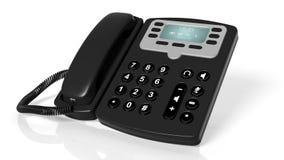 Black office telephone Royalty Free Stock Image
