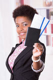 Black office woman posing Stock Photography