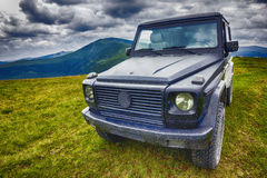 Black offroad vehicle Stock Photography