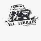Black Offroad vehicle with splashes of mud. Royalty Free Stock Images