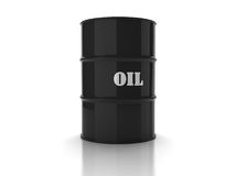 Black oil barrel Royalty Free Stock Images