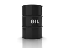 Black oil barrel Royalty Free Stock Images