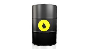 Black oil barrel. Royalty Free Stock Photo