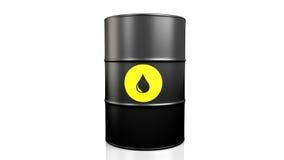 Black oil barrel. vector illustration