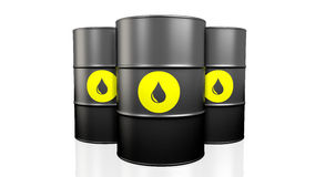 Black oil barrel. Royalty Free Stock Photos