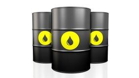 Black oil barrel. 3D illustration of black oil barrel on white background vector illustration