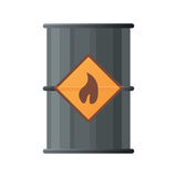 Black oil barrel icon. Flat illustration of black oil barrel  icon Stock Image