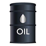 Black oil barrel isolated icon Stock Photo