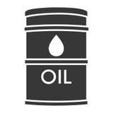Black oil barrel isolated icon. On white background, vector illustration vector illustration