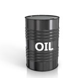 Black oil barrel Stock Image