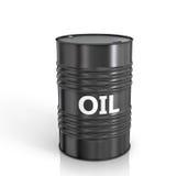 Black oil barrel Stock Image