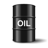 Black oil barrel on white background Royalty Free Stock Images