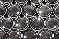 Black oil barrels ,Industrial Background Stock Photos