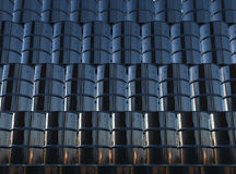 Black oil barrels wall Royalty Free Stock Photos