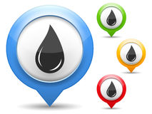 Black Oil Drop Icon Stock Images
